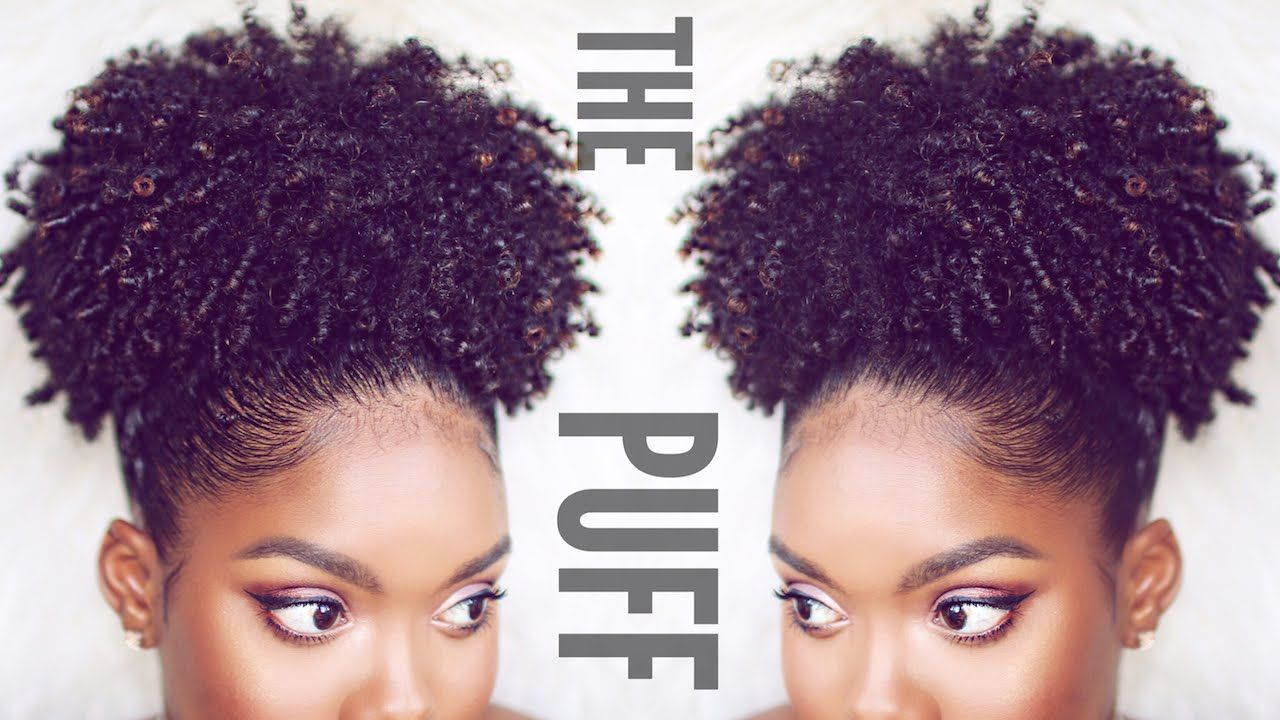 How To Natural Hair Puff Hair Puff Curly Hair Styles