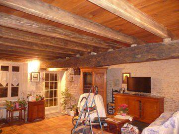 Quelle Couleur Pour Un Plafond Avec Poutres Pour Eclaircir La Piece Poutre Plafond Poutre Plafonds