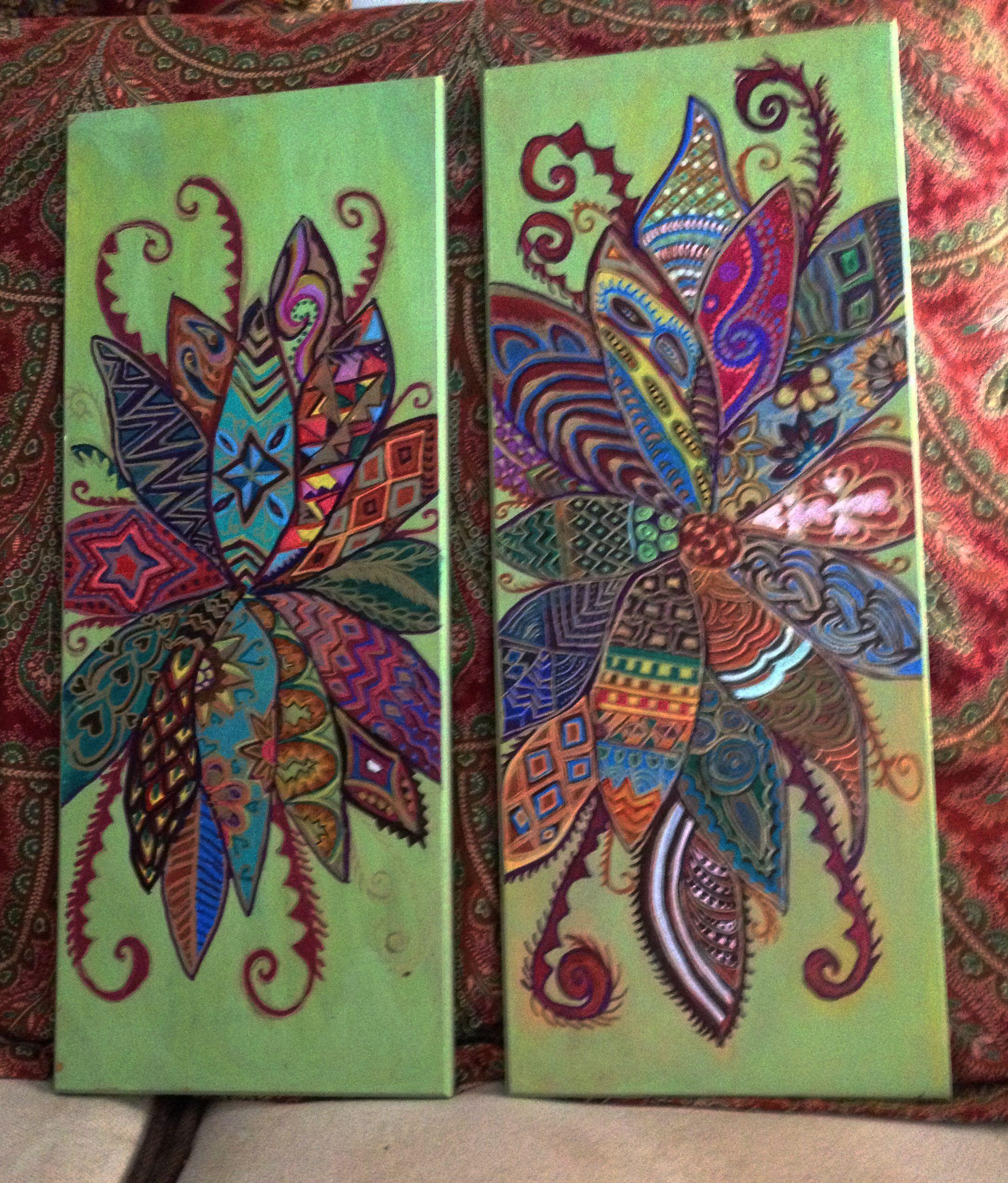 Bohemian Paint Colors: Nanabugs Treasures On Esty
