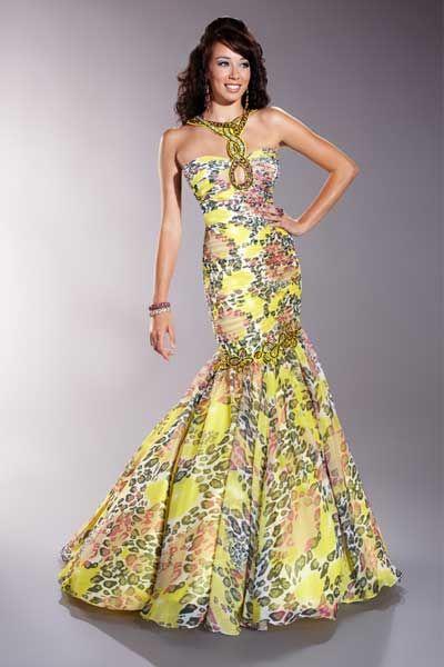 Vestidos para boda formal tropical