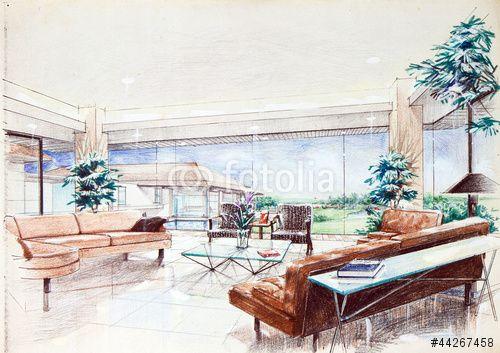 Interior Design Color Sketches pinДизайн-бюро №1 on Скетчи | pinterest | sketches
