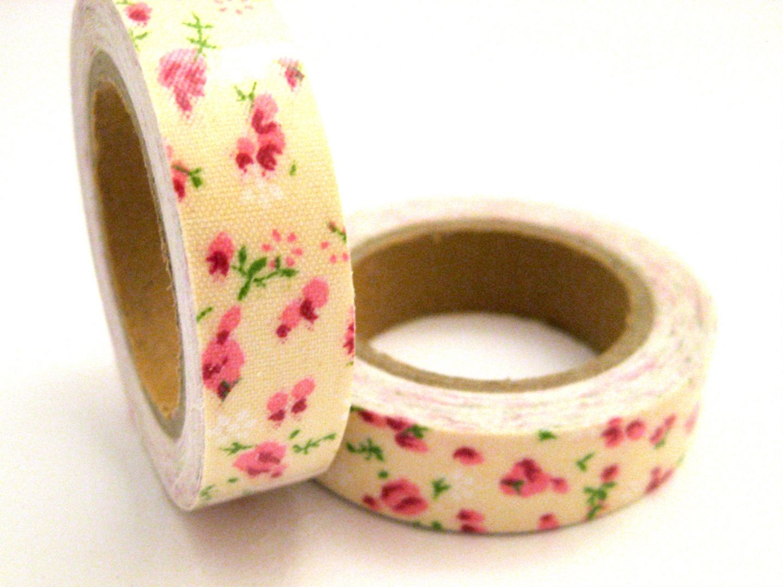 Masking Tape Tissu Adhésif Fleurs Liberty 1,5mmx4.2mètre MT9 ...