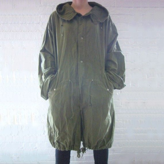 Fishtail Parka XL 80s Vintage Anorak Olive Army Green Cotton ...