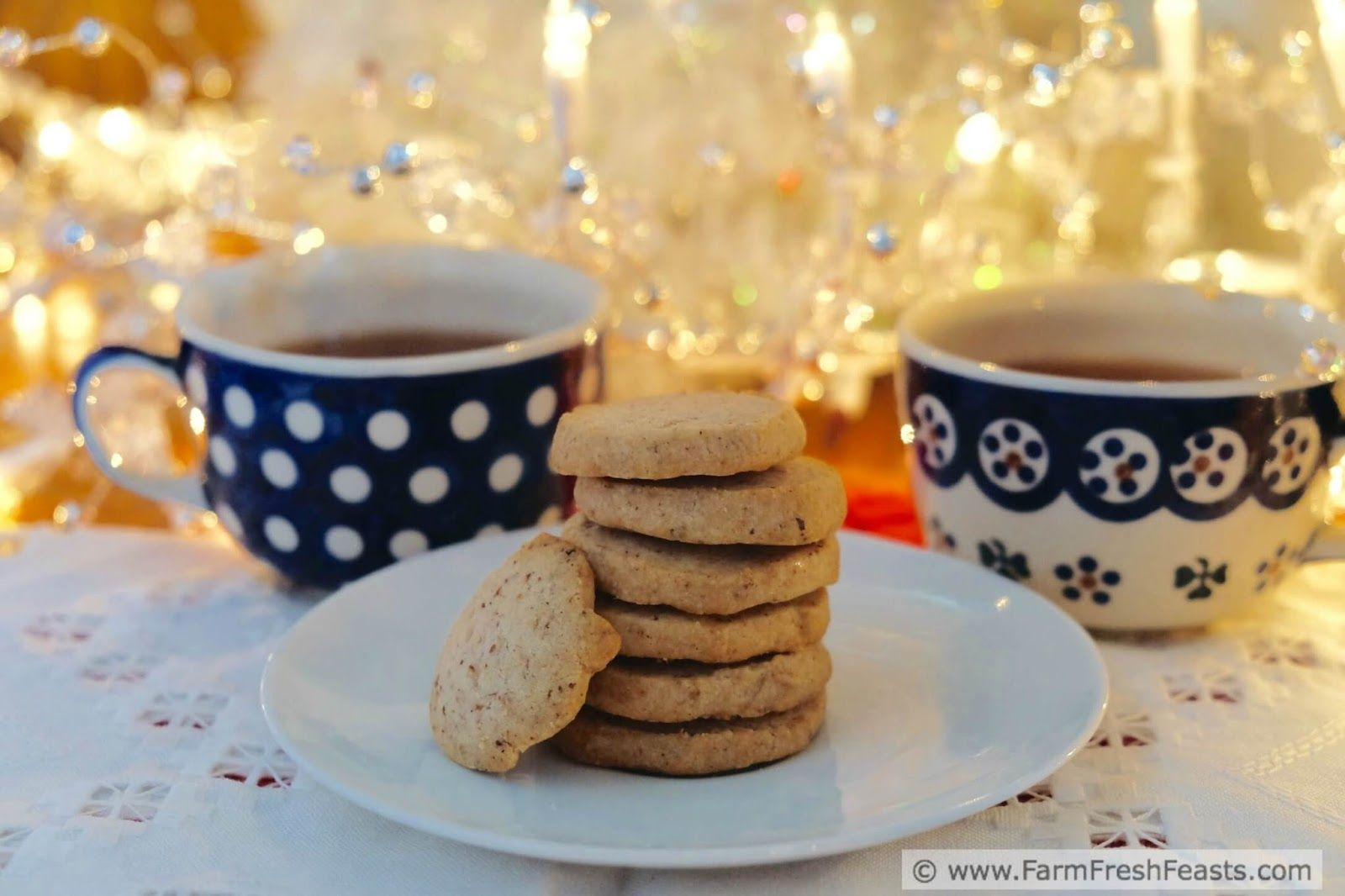 Cranberry chai tea cookies with an amazon gift card