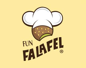 Fun Falafel By Byalrukban Falafel Resturant Logo Graphic Design Logo