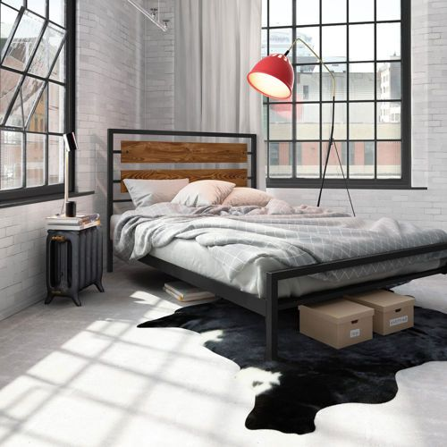 Cost Co bed frame double size $519 Amisco - Fargo Black Bed | Wood ...