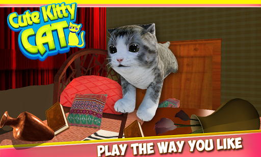 A New And Fun Game For Cat Lovers Is Now In The Market Vital Games Production Now Presents You Cute Kitty Cat 3d Simulat Cute Cats Cat Playing Cat Simulator