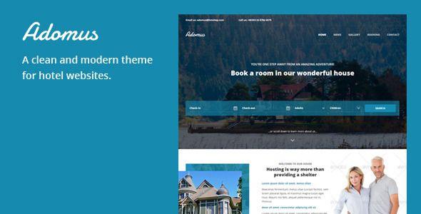 Adomus - Hotel WordPress Template