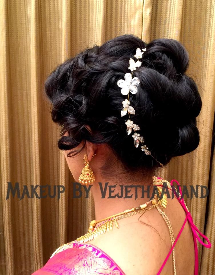 indian hair style design indian s bridal reception hairstyle by vejetha for 4908 | b9d0de7406d1a551ec85305ecf3c4f3f