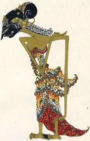 Drupadi is Puntadewa's wife and determined companion to the five Pandawas, Wayang Kulit, Leather, Solo Central Java