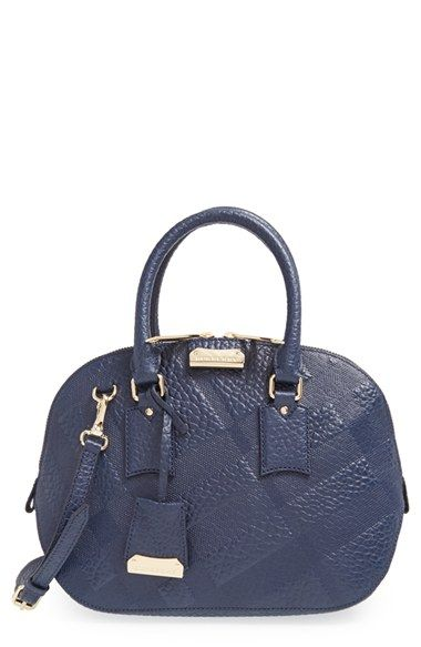 e09805d14ef0 Burberry+ Small+Orchard +Check+Embossed+Leather+Satchel +available+at+ Nordstrom