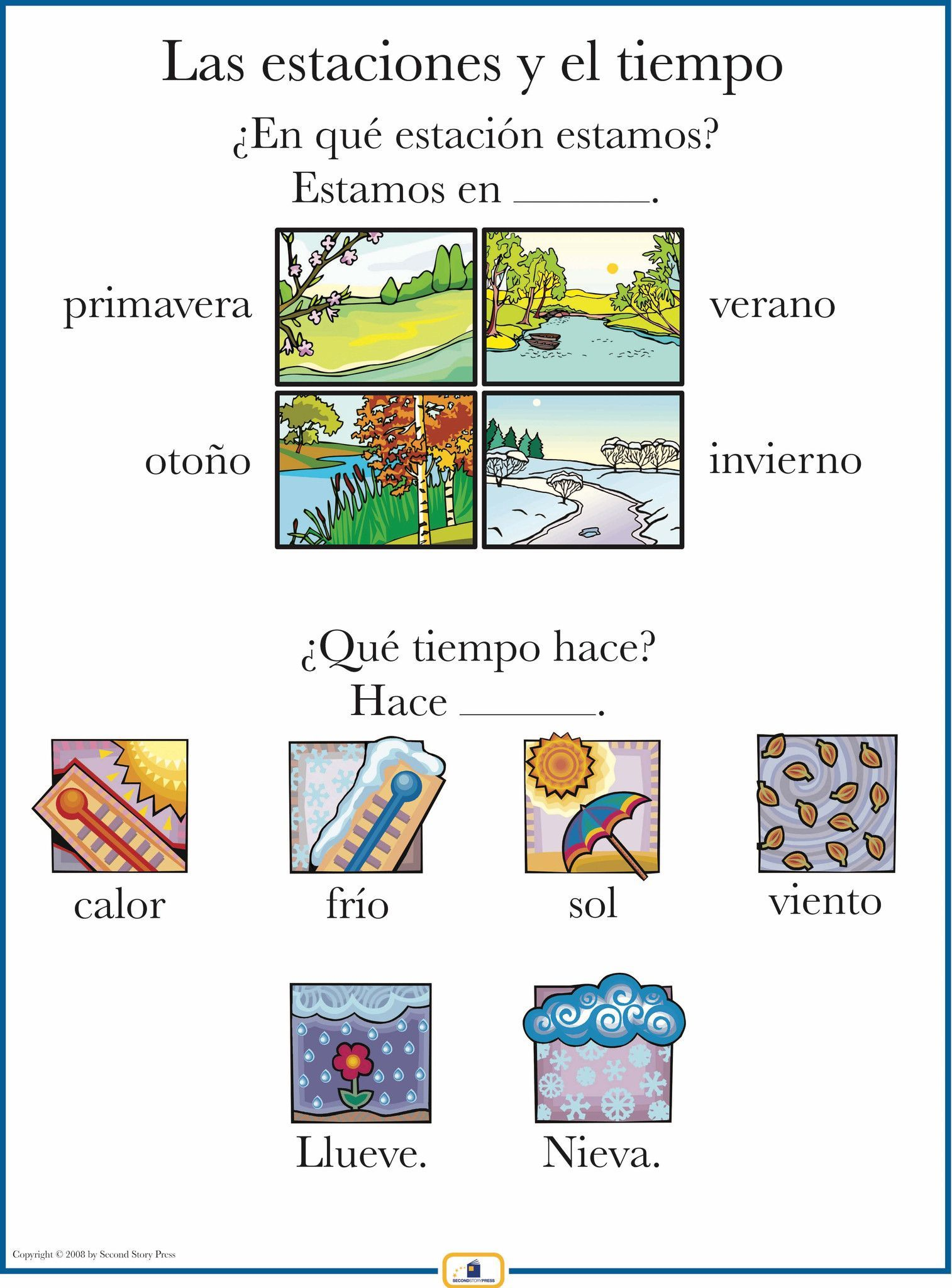 Spanish Weather Poster   Learning italian, Teaching french ...