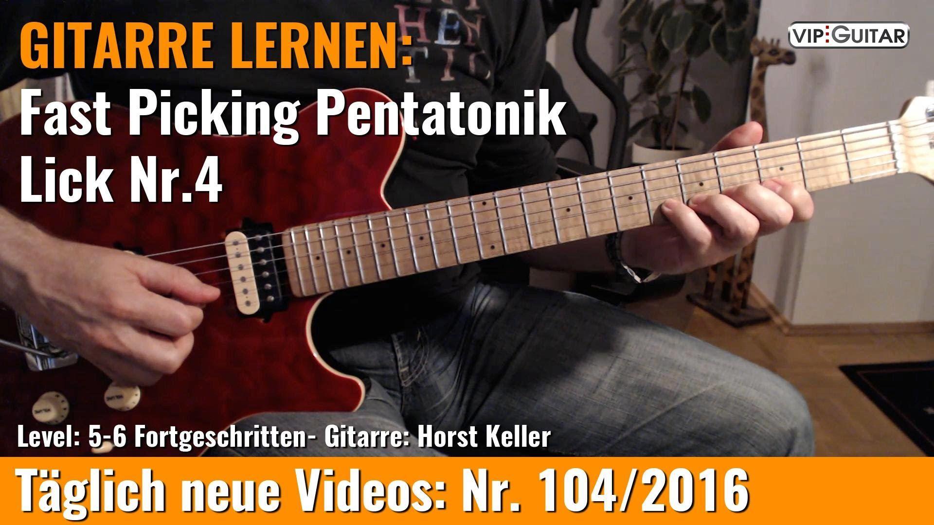 ✪ Pentatonik Training ■Alternate Picking Lick Nr 2 Gitarre lernen Pinterest