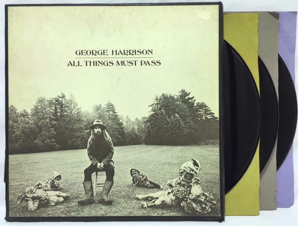 George Harrison All Things Must Stcg 639 Poster Lp Vinyl Record
