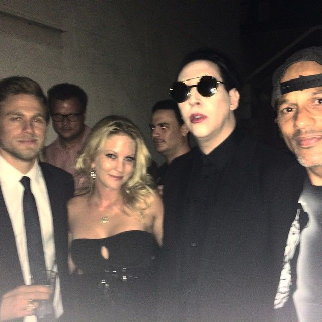 Yeah. This happened. Charlie Hunnam, Marilyn Manson, David Labrava