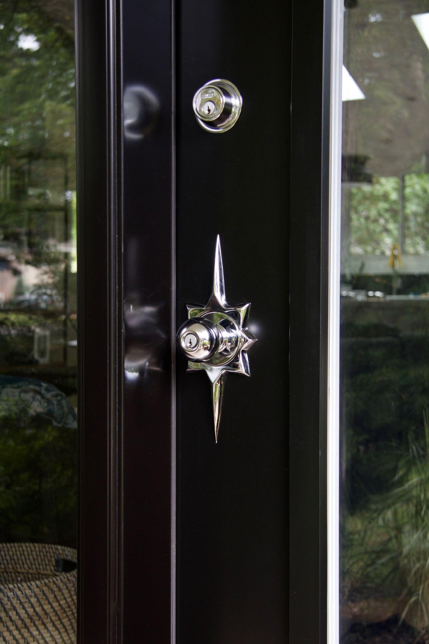 modern exterior door handles. Mid-Century Modern Door | Exterior Black With Sidelites Handles