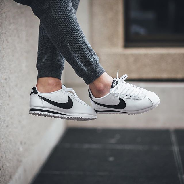 Nike Wmns Classic Cortez Leather - White Black available now in-store and  online  titoloshop Berne  cde71c374