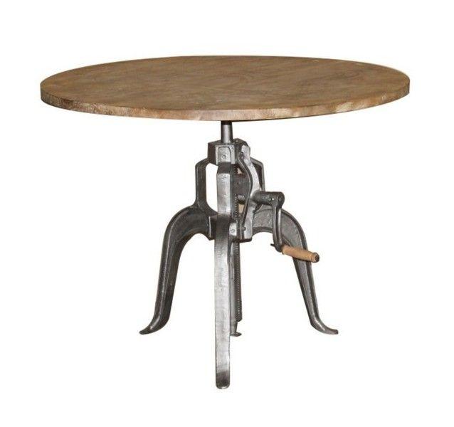 Table De Bar Ronde Haute: Table Réglable En Hauteur Manivelle