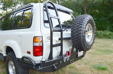 Slee - Toyota 80 Series Land Cruiser - Rear Bumper Detail