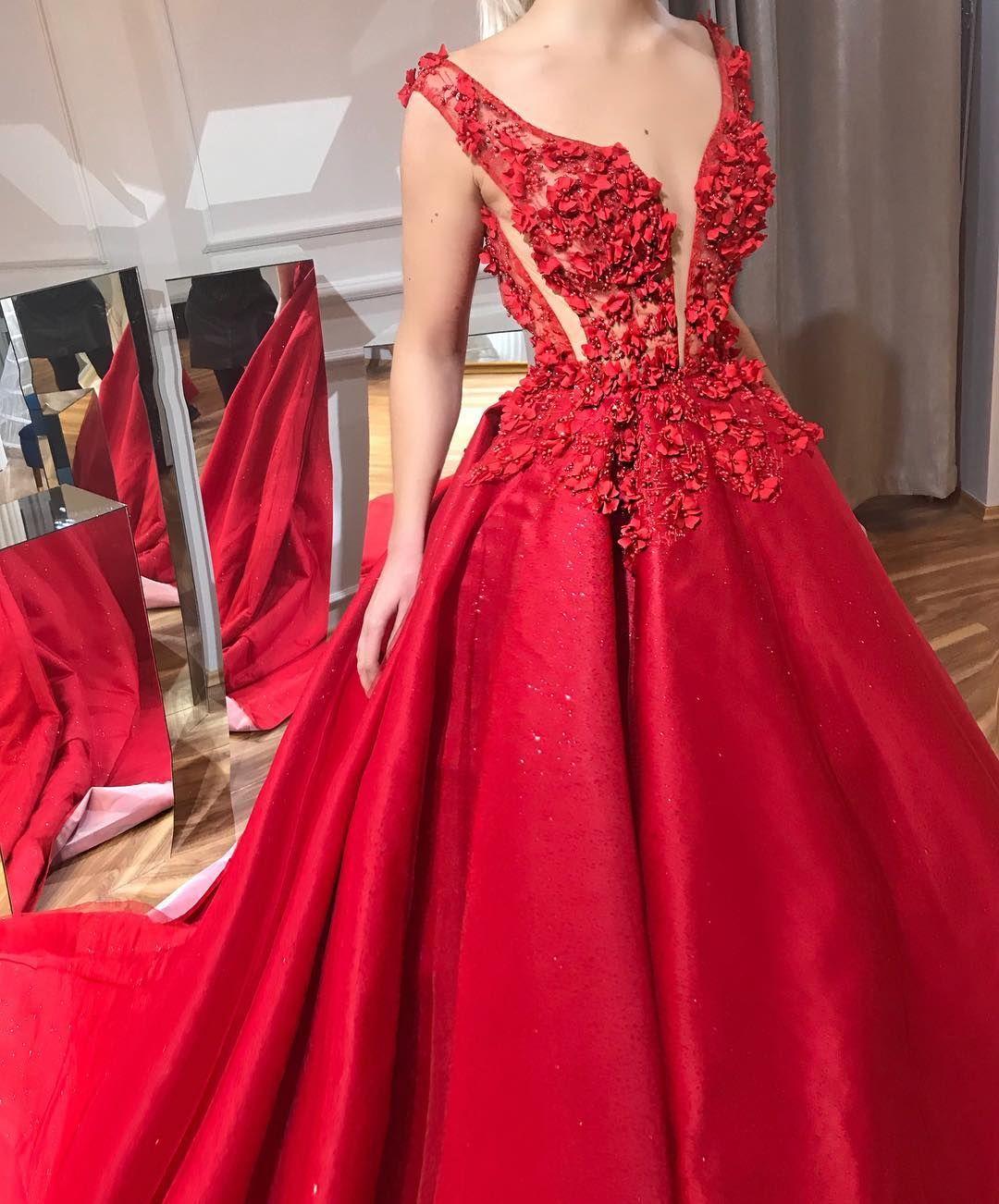Lenaberisha lady in red in pinterest gowns pretty