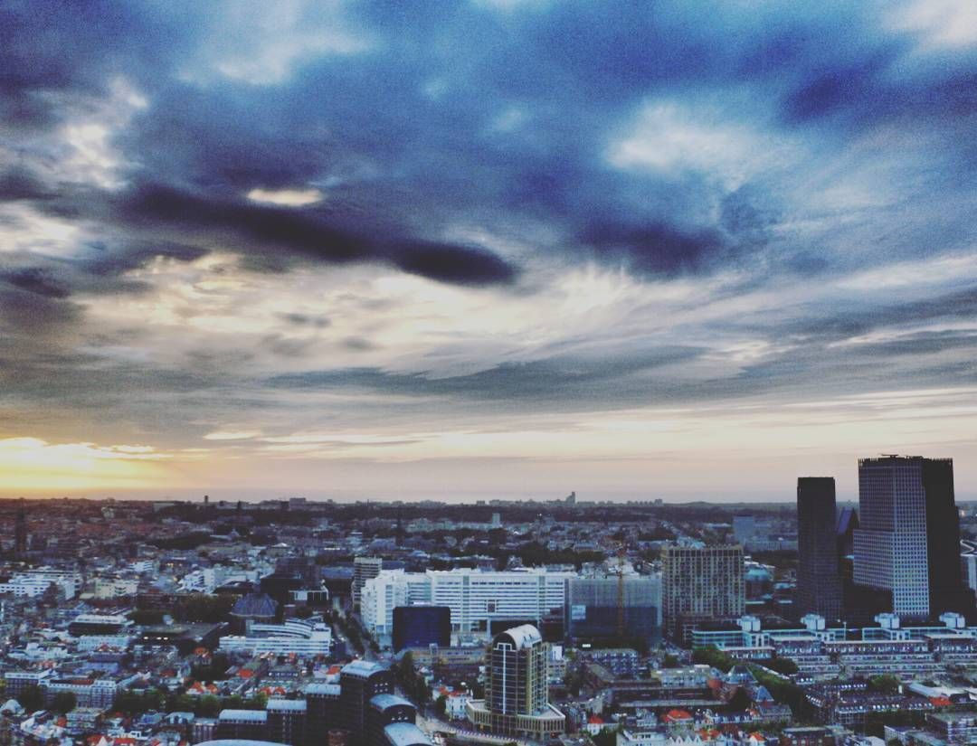 The view from the Penthouse sky bar in The Hague