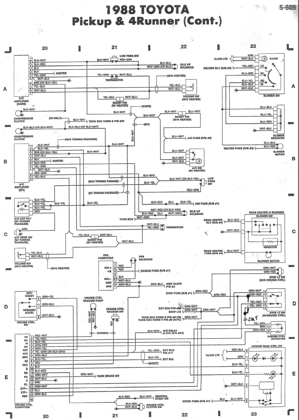 Toyota Truck Heater Wiring Diagram Toyota Wiring Diagrams Color Code
