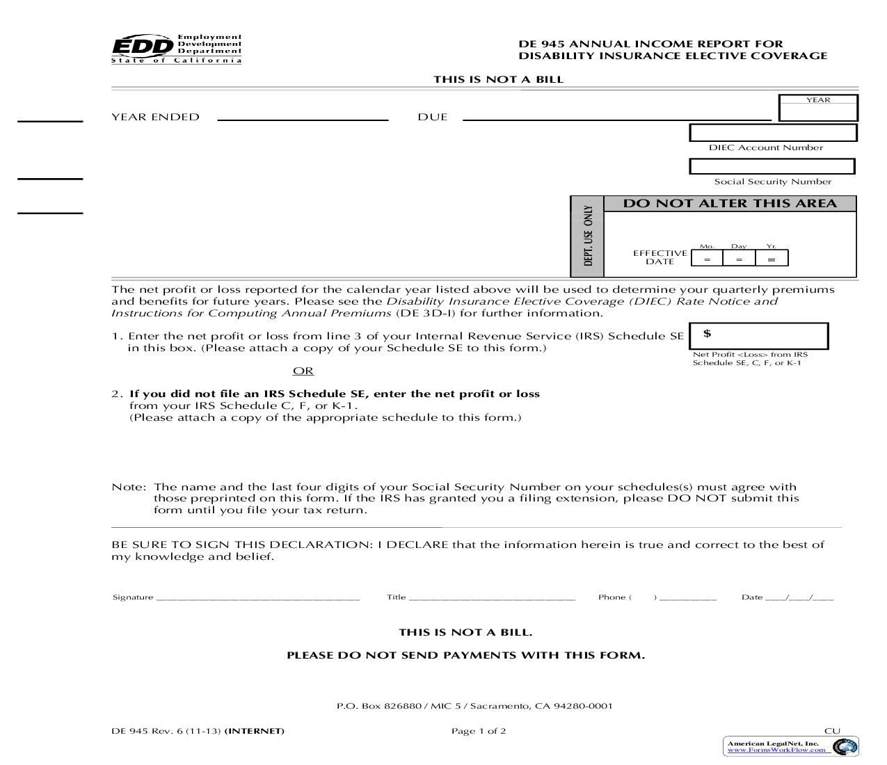This Is A California Form That Can Be Used For Edd Forms Within