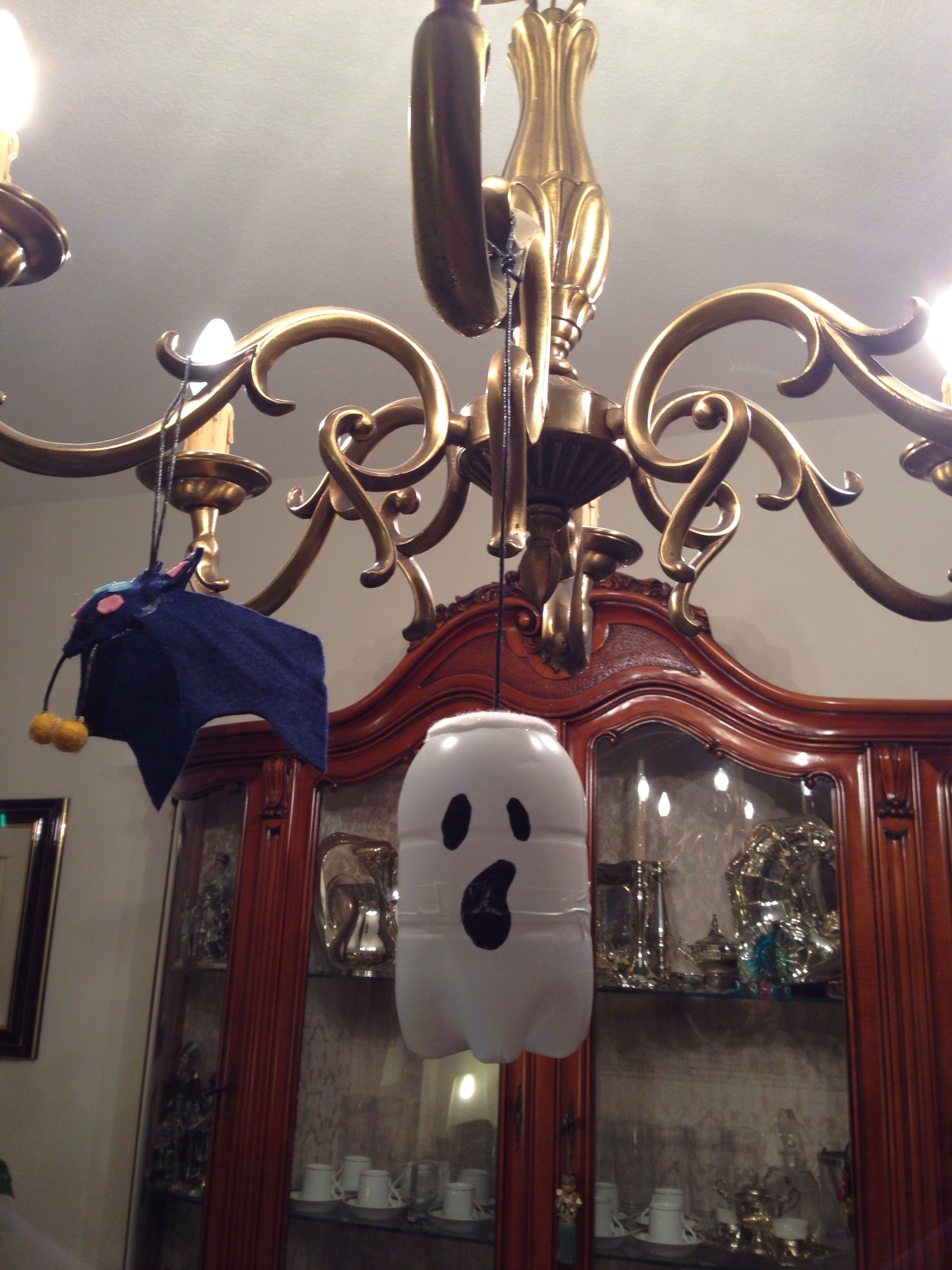 Halloween ghost decoration Made with plastic bottles New life to - Halloween Ghost Decorations