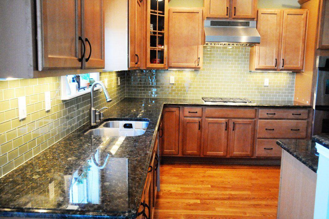 Green Glass Tile Kitchen Backsplash The Polkadot Chair Kitchen