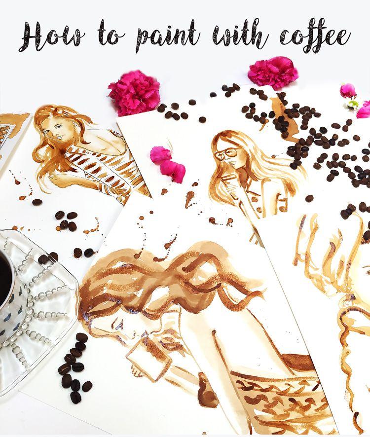 coffee painting tutorial watercolor ideas inspiration pinterest rh pinterest es