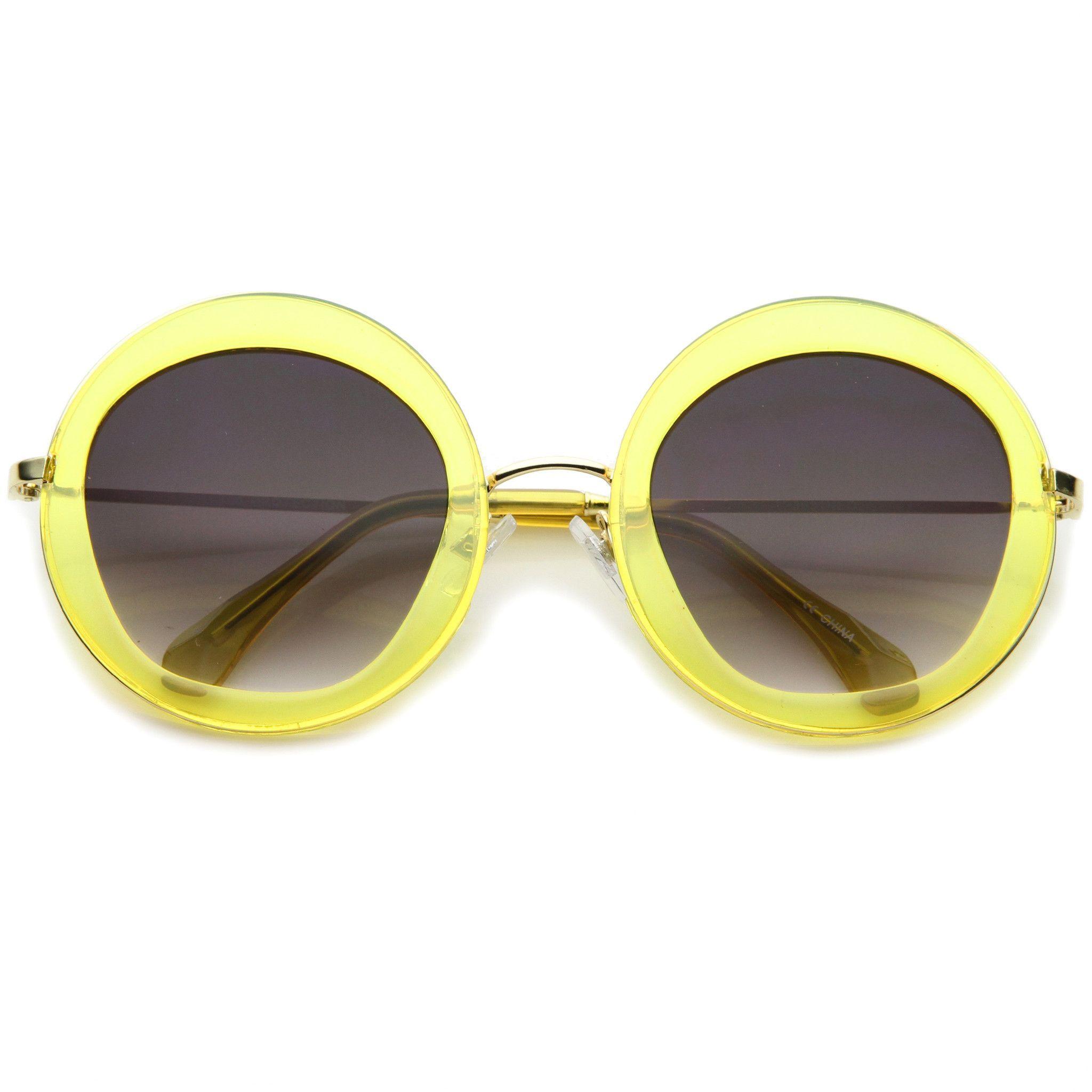 Women's Retro Penta Cut Gradient Lens Sunglasses A135
