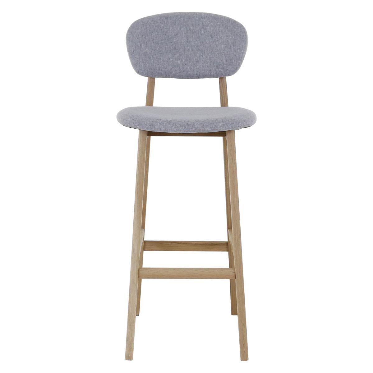 Chaise De Bar Tissu Et Chene Hana X2 Taille Tu Chaise Bar Tabouret Design Et Chaise