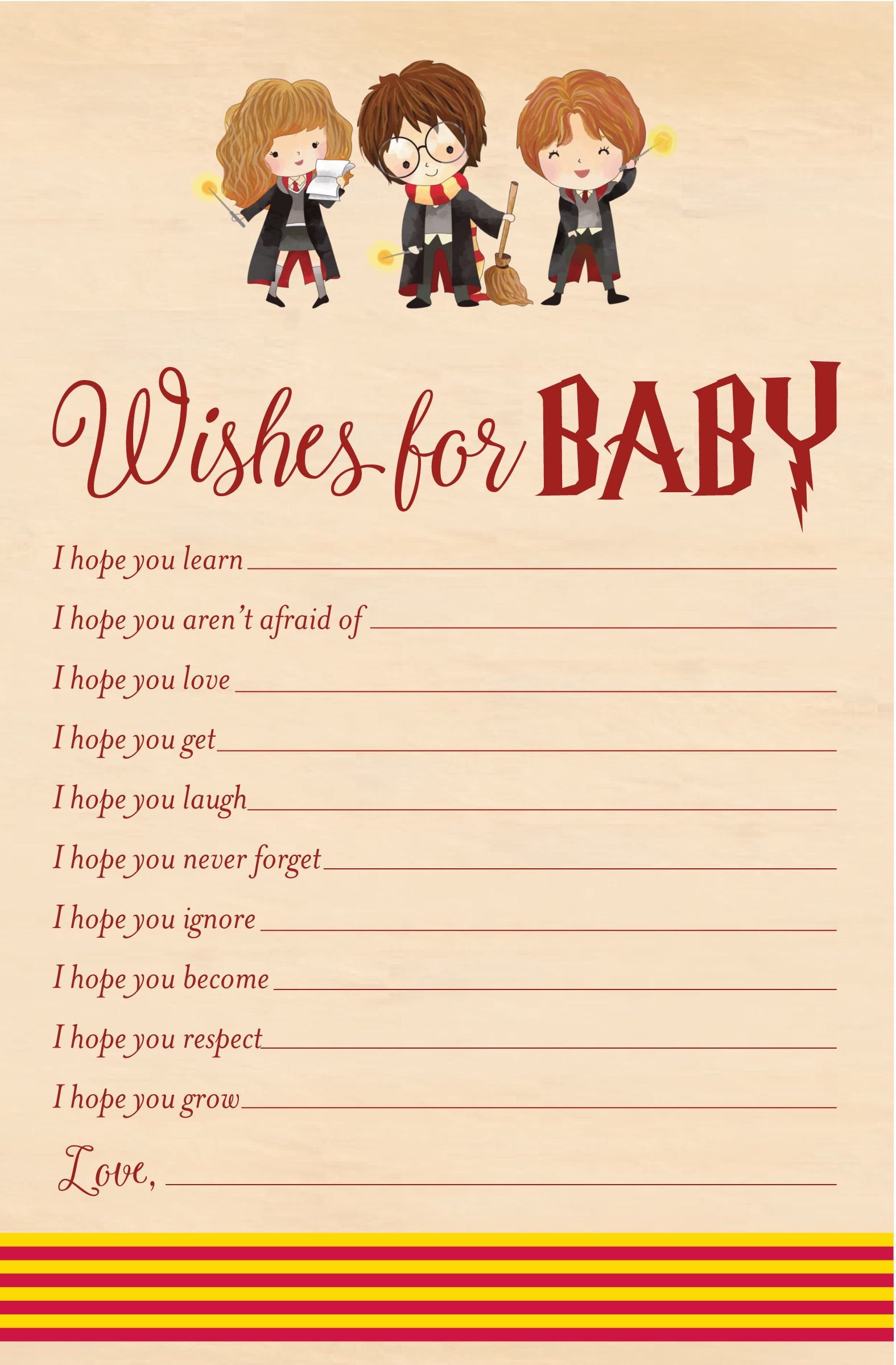 Wizard Kid Wishes For Baby
