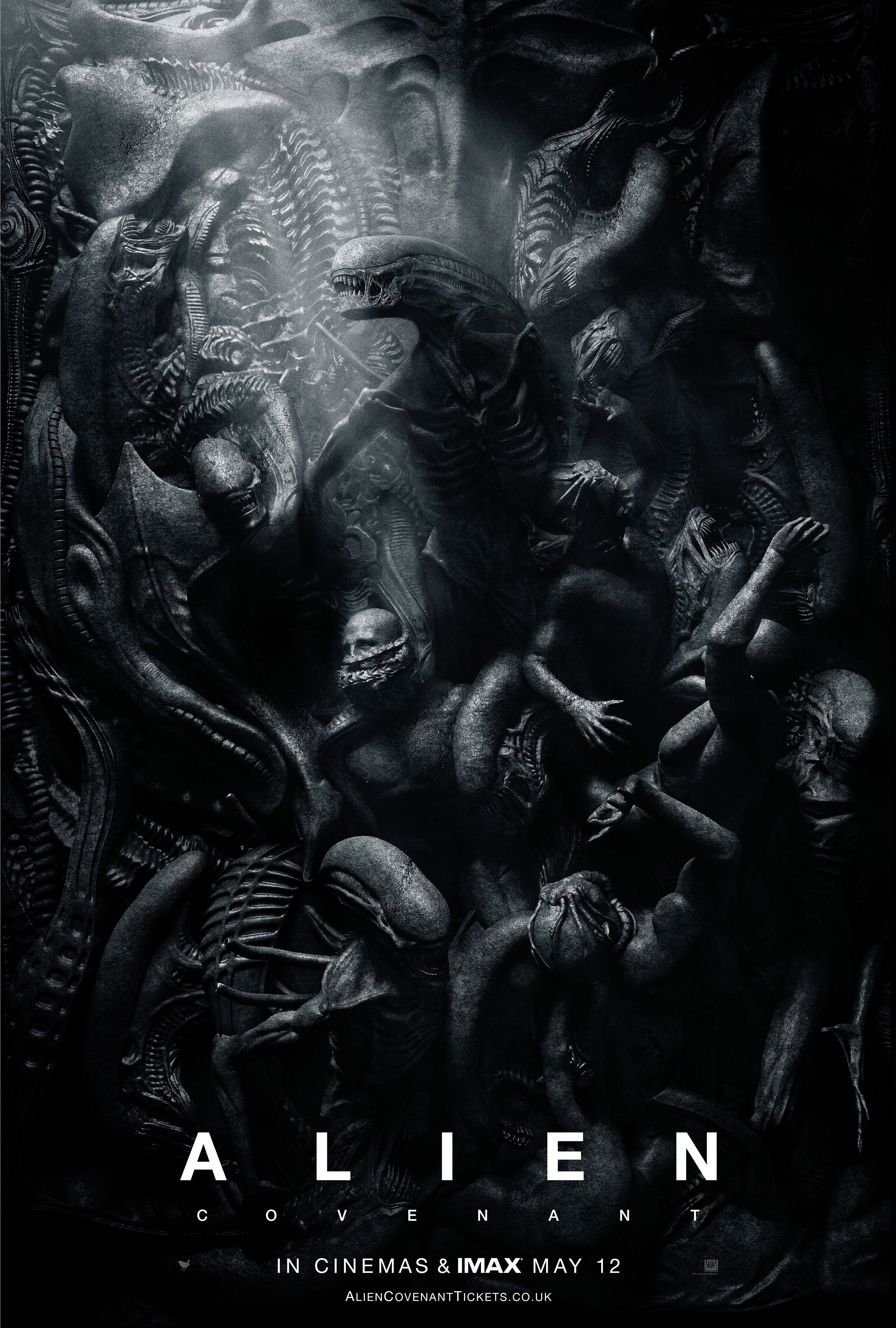 I love this sinewy, segmentedbody poster for Alien