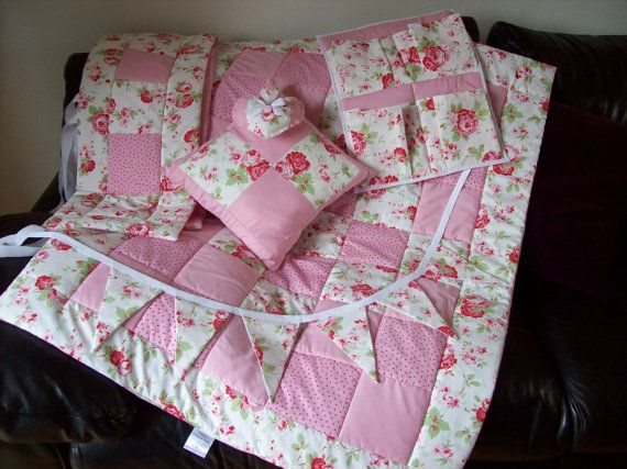 Cath Kidston Baby Quilt Set With Per 4 Pcs Shabby Chic Handmade Patchwork Nursery