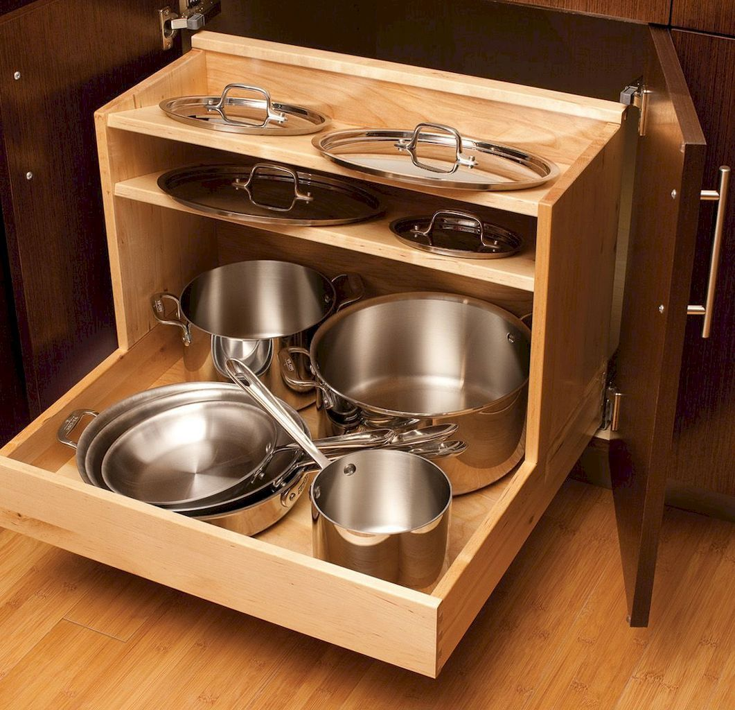Fantastic Organize Your Kitchen Cabinet To Reclaim Space In 2020 Kitchen Trends Small Kitchen Pan Storage