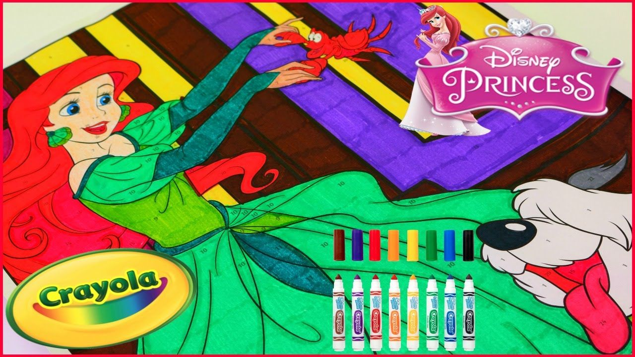 Princess Ariel Crayola Giant Color By Number Disney Princess Colorin Disney Princess Coloring Pages Disney Princess Colors Disney Princess Gif