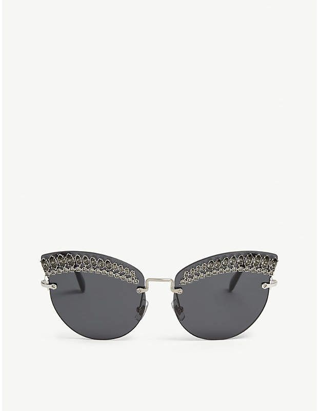 523e73394e6b Miu Miu SMU58T frameless cat-eye sunglasses | Products | Cat eye ...
