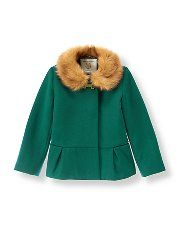 4cae4f5ff475a Faux Fur Trim Coat