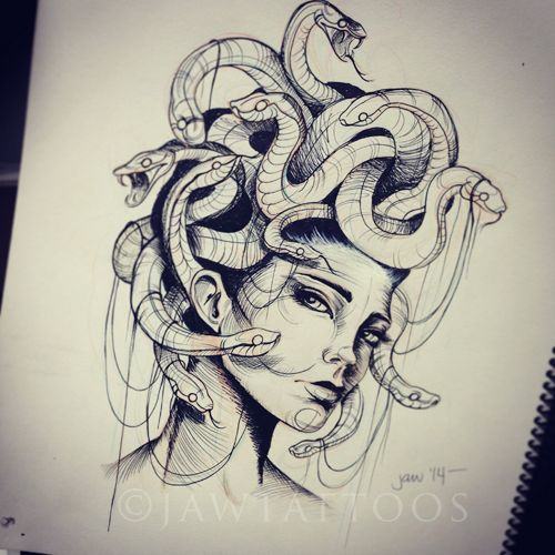 Medusa Sketch … | Pinteres…