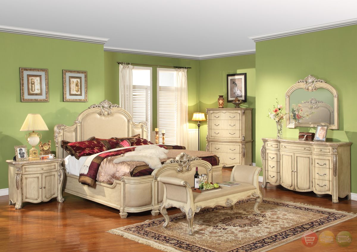 White Bedroom Furniture Penelope Antique Traditional Collection