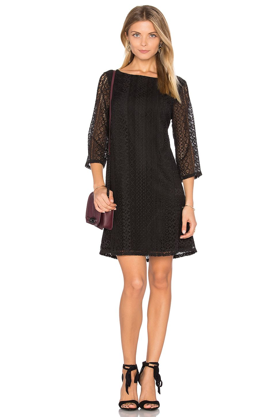 Michael Stars Lace Shift Dress in Black | REVOLVE