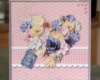 Handmade valentine anniversary birthday card stampin up soft