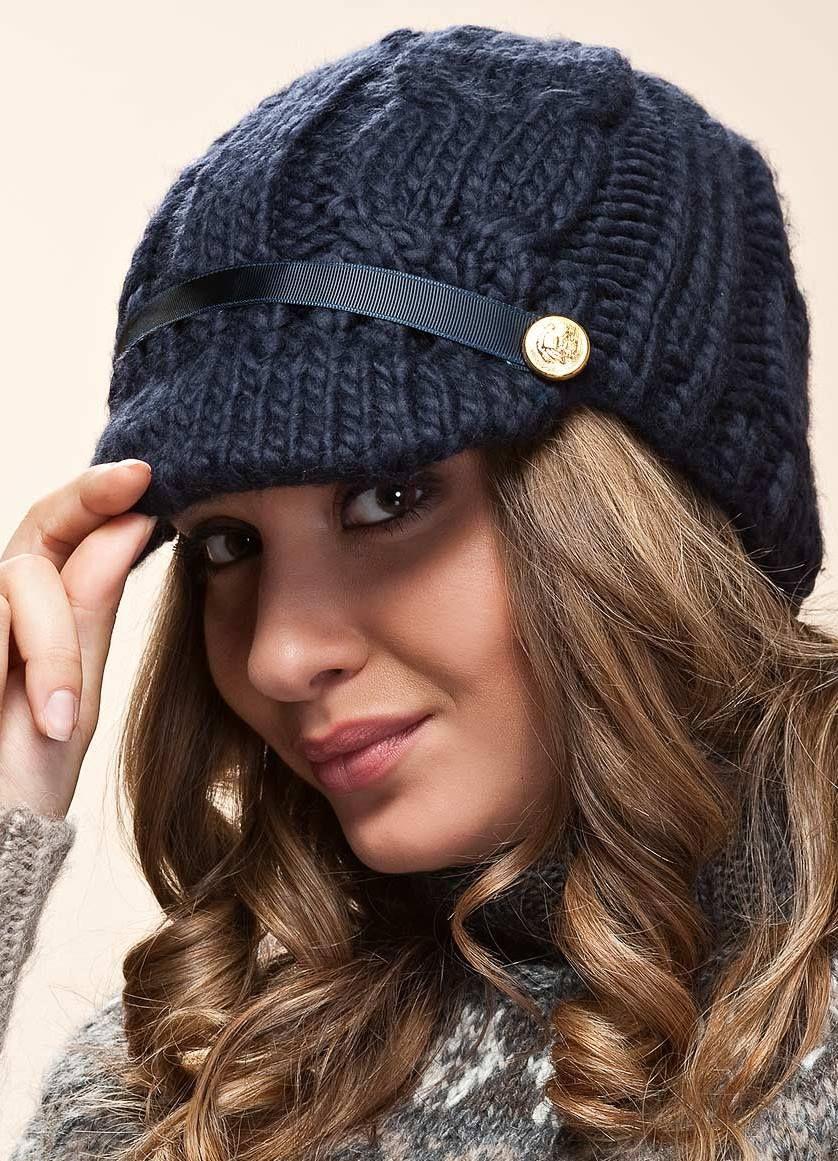 вязаные женские шапки 2018 осень зима вена с описанием модные