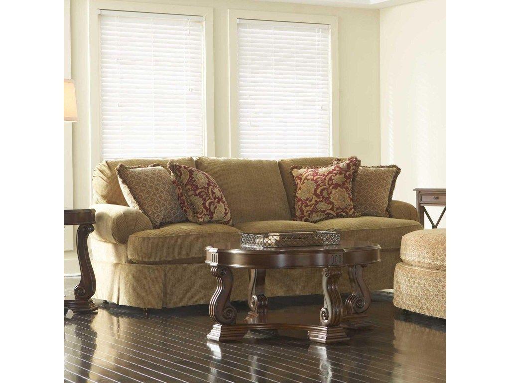Broyhill Furniture Mckinney Skirted Sofa Hudson S
