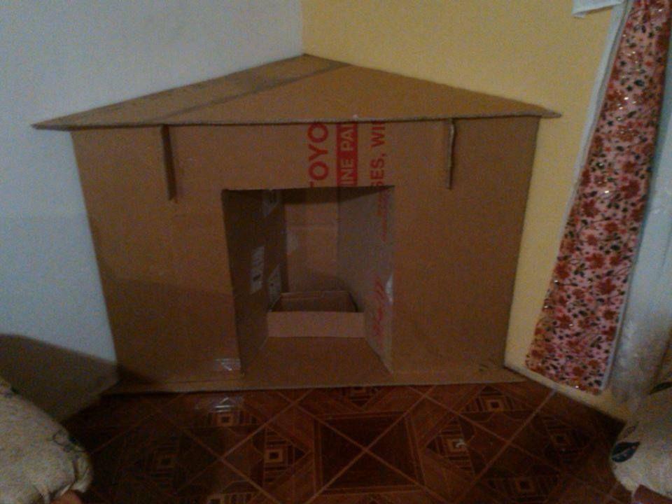 Chimenea veca casas de navidad chimeneas navidad y - Hacer chimenea decorativa ...