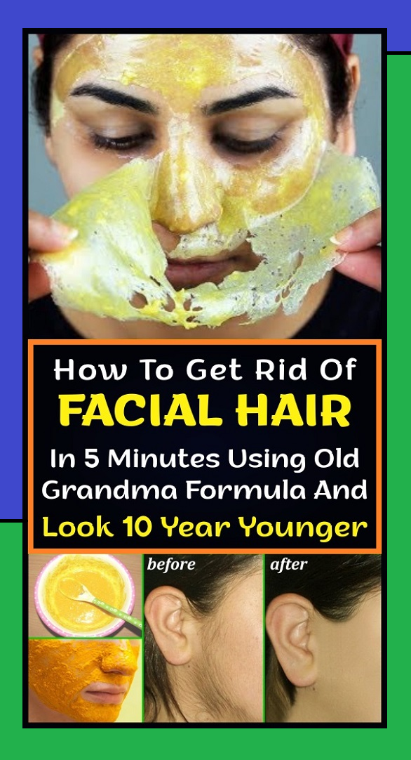 How To Get Rid Of FACIAL HAIR In 5 Minutes Using O