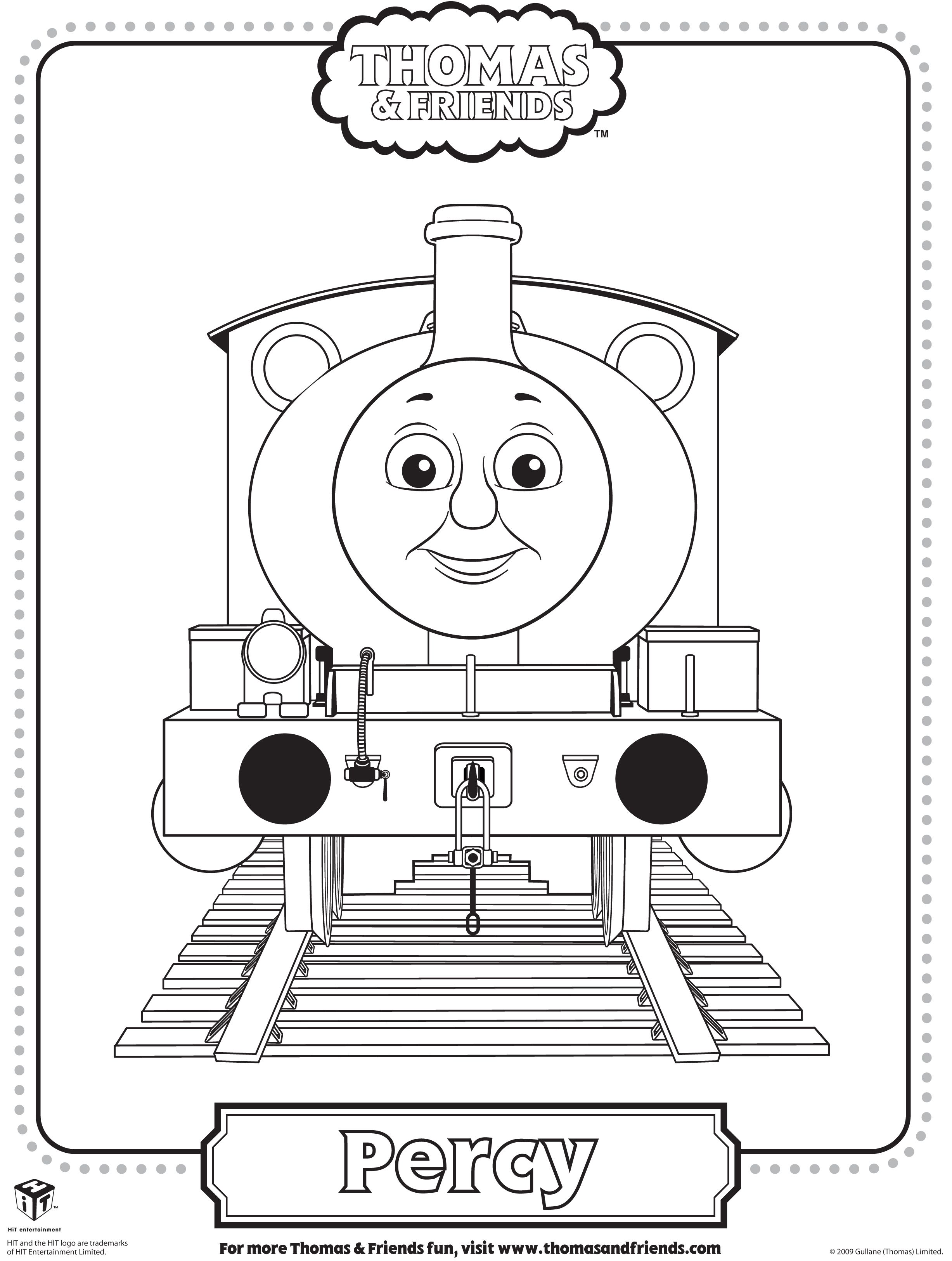 colouring pages of james in thomas tank google search