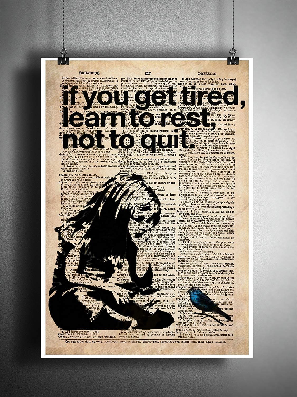 Banksy Girl If You Get Tired Learn To Rest Street Art Vintage