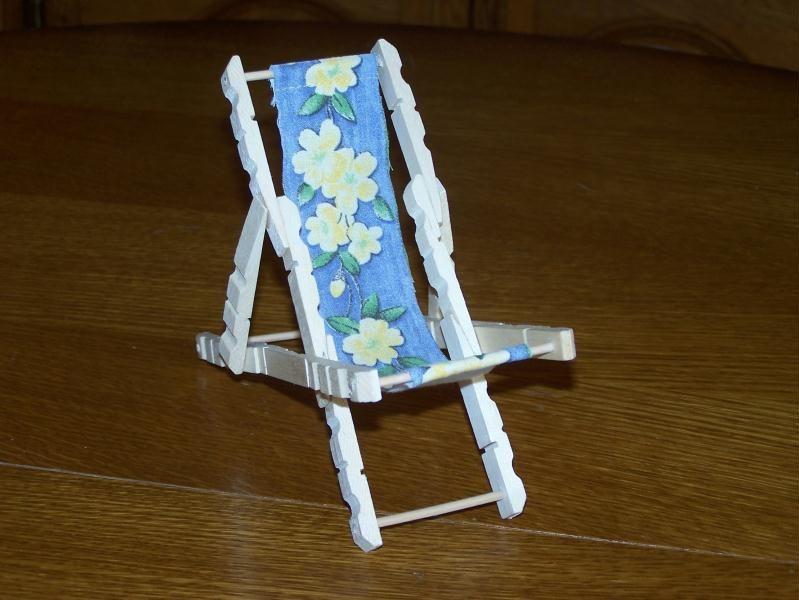 chaise longue de plage en pingle linge cr ation cr ation en pinces linge de marco76 n 41. Black Bedroom Furniture Sets. Home Design Ideas